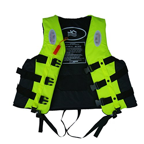 Anam leader Internation Giubbotto con fischietto, Giubbotto salvagente per adulti, galleggiamento Vest, kayak, schiuma vita giacca Sport acquatici, Lemon
