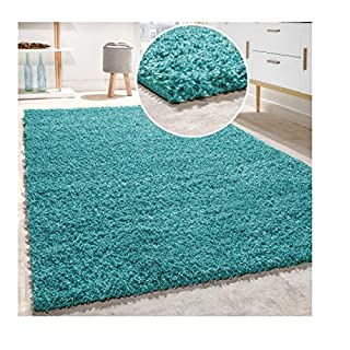 AQS INTERNATIONAL Quality Rugs Shaggy Rug Soft Touch Thick Dense 55mm Pile Home Floor Shaggy Shag Pile   Soft   Comfort  Warmth  Noise Creamuction Shaggy Rugs