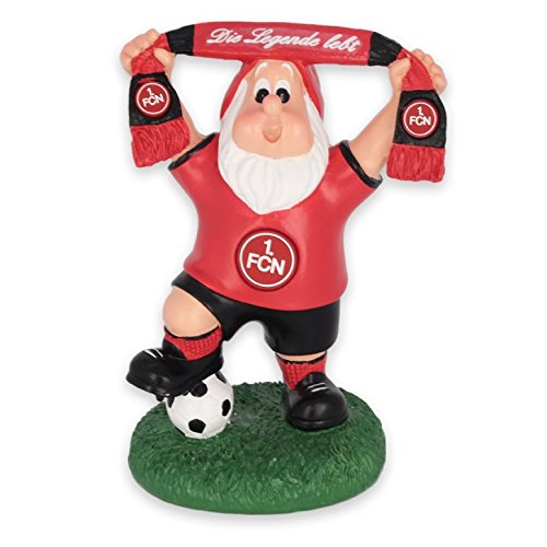 1. FC Nürnberg - Gartenzwerg mit Schal - ca. 16 cm gross