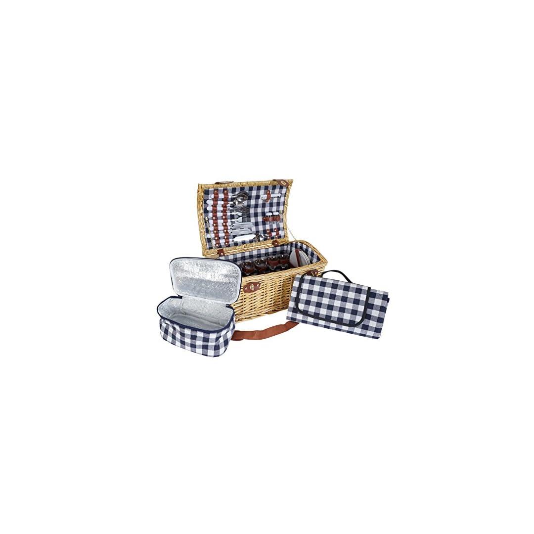 Mendler Picknickkorb-Set für 6 Personen