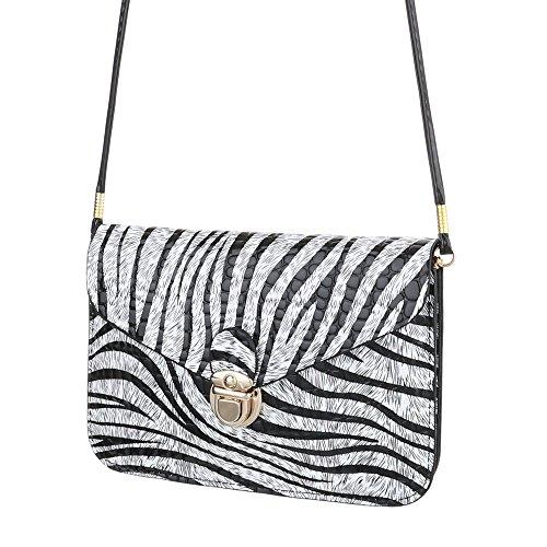 Taschen Clutch Umhängetasche Schwarz Weiß (Gucci-handtasche, Schwarz Und Weiß)