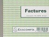 Exacompta 13274se Manifolds Factures - 50 Feuillets Autocopiants - Sous Film Par Lot de 5