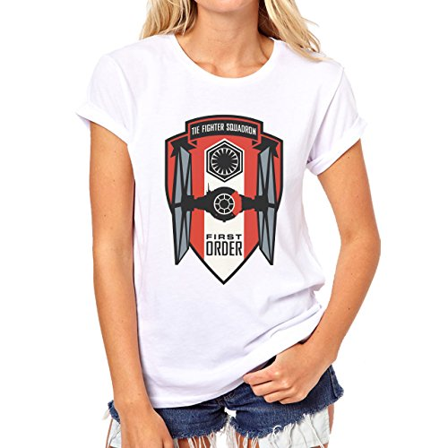 The Fighters Squadron Badge Front Star Wars Damen T-Shirt Weiß