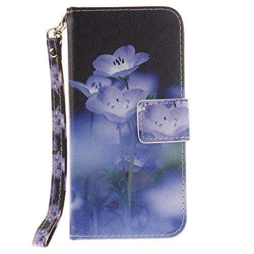 iPhone 7 iPhone 8 4.7 Cover,MAGQI Custodia Wallet in Pelle Alta Qualità Sottile PU Copertura del Portafoglio Folio Skin Protettivo Conchiglia Case per iPhone 7 / 8 - Mandala Colorato Fiore Viola