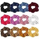 Tuparka 12 Pack Velvet Hair Scrunchies Colorful Hair Ties Accessori per capelli elastici Corde Scrunchie per donne e ragazze