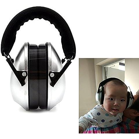 Kids protección auditiva orejeras con auriculares ruido protección (plata)