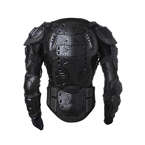 Goldfox® Motorrad Jacke Schutzkleidung Protektoren Protektorenjacke Motorcross Armour Snowboarden Brustpanzer (L)