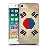 Head Case Designs Corée du Sud Coréen du Sud Drapeaux Vintage Coque Dure pour l'arrière Compatible avec iPhone 7 / iPhone 8