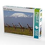 Giraffen – Am Kilimanjaro 1000 Teile Puzzle Quer