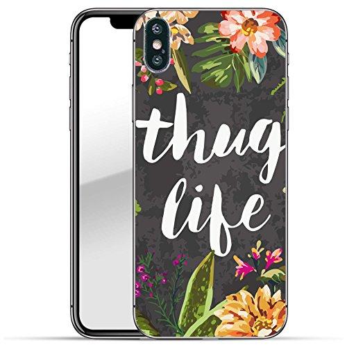 finoo   Iphone X Hard Case Handy-Hülle mit Motiv   dünne stoßfeste Schutz-Cover Tasche in Premium Qualität   Premium Case für Dein Smartphone  Fuck You Herz Thuglife