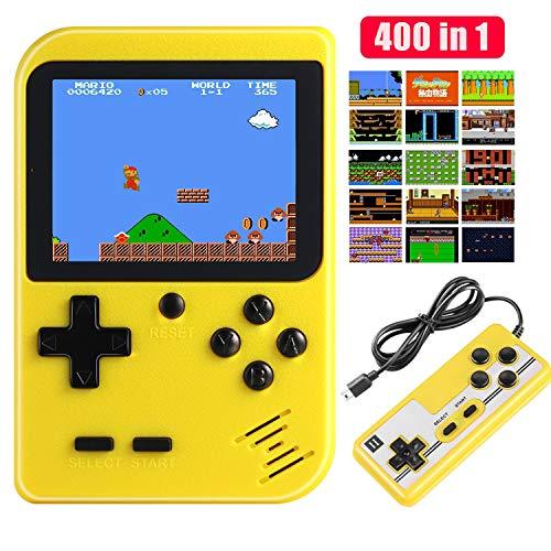 Diswoe Handheld Spielkonsole, 400 Klassische Spielen 2.8-Zoll-LCD-Bildschirm tragbare Retro-Videospielkonsole Unterstützt das Anschließen an den TV-Anschluss und zwei Spieler für Kinder und Erwachsene