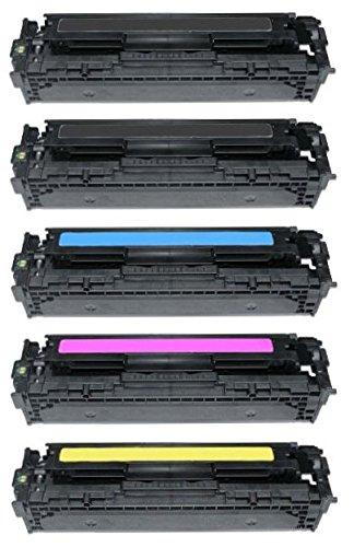 5er Set INK INSPIRATION® Premium Toner kompatibel für HP Laserjet Pro 200...