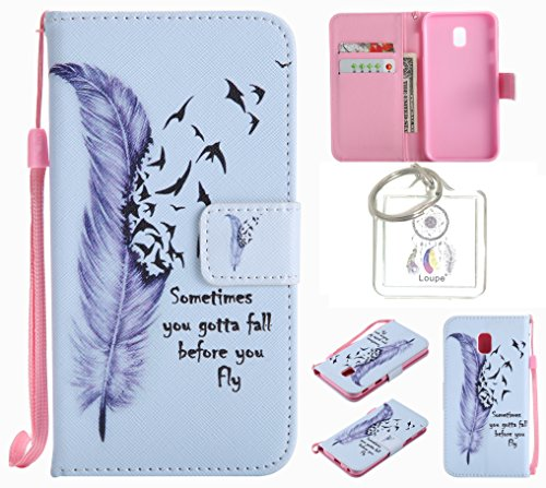 For Samsung Galaxy J32017(eu-model) Case Cover Protector PU Leather Luxury Wallet Flip With Card Holder Slots + Ring (O), 8