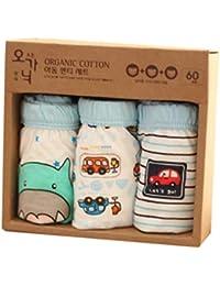 Highdas Pack de 2 bebé de la ropa interior de algodón para niños escritos cortos niños bragas color al azar
