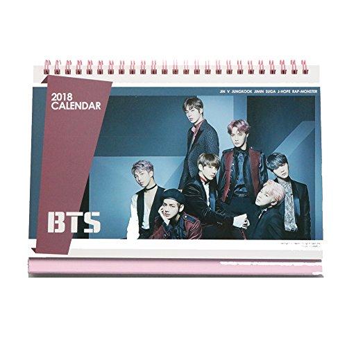 BTS Bangtan Boys 2018 Desk Calendar with Extra photo cards and Stickers