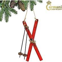 Carmani - Sci, tradizionale Albero di Natale in legno decorazioni d'attaccatura