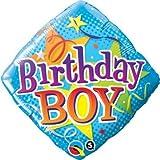 Pioneer Balloon Company 34434.0 18 Birthday Boy Stars Foil Balloon Ballon, Mehrfarbig