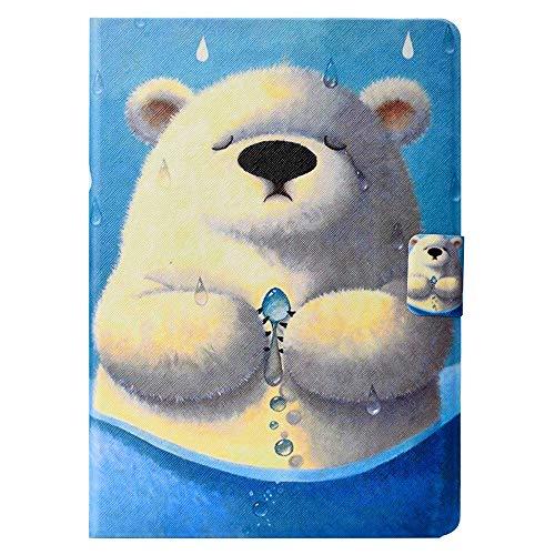 Forhouse Hülle iPad 5 6 7 8, PU Ledertasche Flip Magnet Etui Mit Standfunktion Ultra Schlanke stoßfest Schutzhülle für iPad 5 6 7 8 (Polar Bear)
