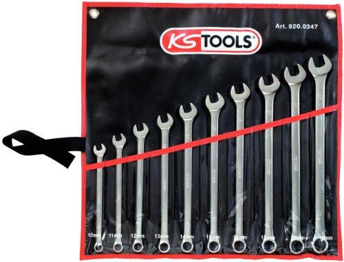 KS Tools 920.0347 Jeu de 10 clés polygonales extra longues Ultimate Plus 10-19 mm