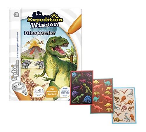 Preisvergleich Produktbild Ravensburger tiptoi ® Buch Expedition Wissen Dinosaurier + Gratis Dino-Sticker