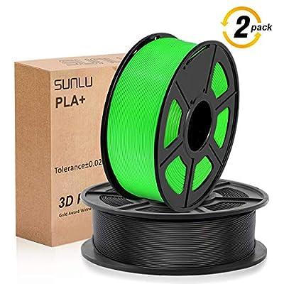 PLA+ 3D Printer Filament,PLA+ Filament 1.75 mm SUNLU,Low Odor Dimensional Accuracy +/- 0.02 mm 3D Printing Filament,2.2 LBS (1KG) Spool 3D Printer Filament for 3D Printers & 3D Pens
