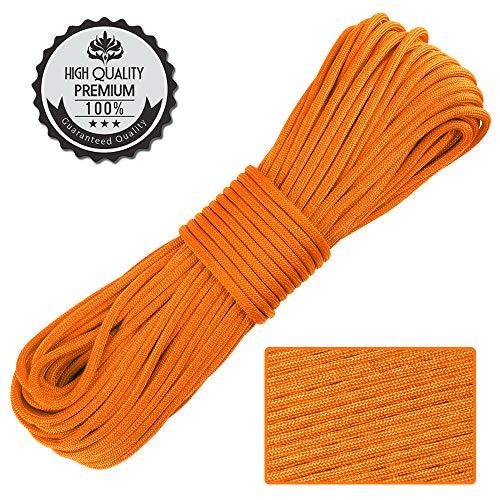 Nasharia Paracord 550 Professionelles Nylon Outdoor Seil 31m lang 4mm dick - Kernmantel Seil aus 9 Kernfäden aus reißfestem Nylon Fallschirmschnur 250KG Bruchfestigkeit -