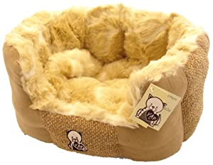 Delicato Oval Pet Bed, Small from Happy Pet