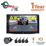 #3: myTVS TAV-40 Car Touch Screen Stereo Player with Bluetooth & Mirror Link + 8 LED Parking Camera + Reverse Parking Sensor kit-All Cars