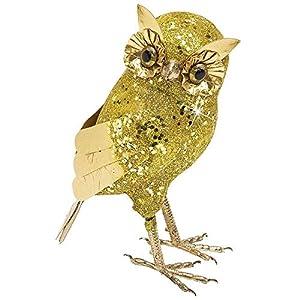 WIDMANN vd-wdm7858r búho purpurina, dorado, talla única