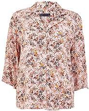 Marks & Spencer Women's Printed 3/4 Sleeve Shirt, Light