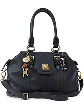 Lederhandtasche mit Klemmverschluss