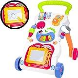 Lauflernwagen Gehhilfe mit Spielzeug - Zaubertafel, Keyboard