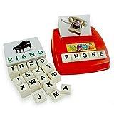 BriskyM Kinder Kindheit lernen Englisch Karte Buch Word Scrabble Teach Pädagogisches Spielzeug Spaß Geschenk für Erkenntnis Entwicklung (Rot)