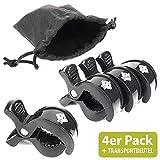 Booga Baby mollette passeggino – Passeggino Clip 4 pezzi + sacchetto per il fissaggio sicuro di panni e giocattoli al passeggino o seggiolino auto