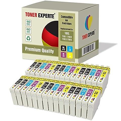 Pack 30 XL TONER EXPERTE® Compatibles Epson 18XL T1816 Cartouches d'encre pour Epson Expression Home XP-102, XP-202, XP-205, XP-212, XP-215, XP-225, XP-30, XP-33, XP-302, XP-305, XP-312, XP-315, XP-322, XP-325, XP-402, XP-405, XP-405WH, XP-412, XP-415, XP-422, XP-425