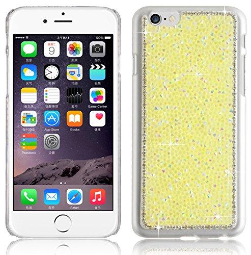 JAMMYLIZARD | Coque souple imprimé Camouflage pour iPhone 6 6s, écran 4.7 pouces, Bleu Strass - JAUNE