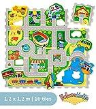 City Puzzlematte für Kinder 1,2x1,2m | 16 Schaumstoffplatten mit Straßen...