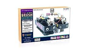 Be Cre8v Mega Brush Bot DIY Robotics Activity Kit for Kids 2-In-1 Pack
