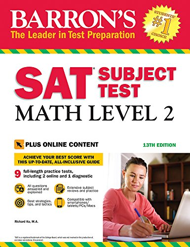 Barron's SAT Subject Test: Math Level 2 with Online Tests (Barron's Test Prep)