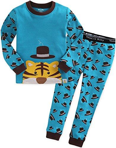 2 Stück Baumwolle Pyjama Bottoms (Vaenait Baby Kinder Jungen Nachtwaesche Schlafanzug-Top Bottom 2 Stueck Set Secret Tiger XL)