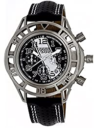 Equipe equeqb107 Watch for Men, Leather Strap Black