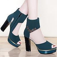 fd11f73e41270 HUAIHAIZ Escarpins femme Talons hauts Les chaussures à haut talon sandales  fish mouth net chaussures chaussures