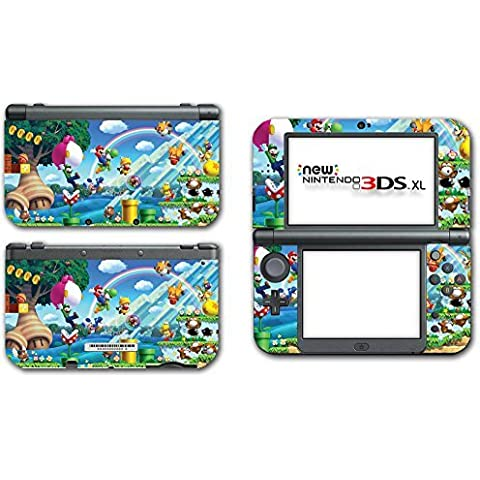 New Super Mario Bros 2 3D Land World Luigi Goomba Video Game Vinyl Decal Skin Sticker Cover for the New Nintendo 3DS XL LL 2015 System Console Protector by Vinyl Skin