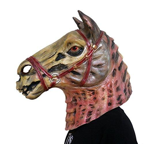 Kostüm Kinder Gangnam Stil - COCOSPLAY Zombie Pferdekopf Maske Neuheit Tierkopf Masken Halloween Gangnam Stil Tanz Latex Naturlatex/Einheitsgröße/Geschenk, Multicolour3pcs