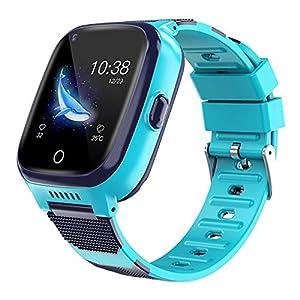BOERSAND 4G Multifunktionale Kinder Smart Watch Phone, Geeignet für Jungen und Kinder Smart-Uhren Von 3 bis 12 Jahre alt, mit SOS-Kamera Taschenlampe Touch für Kinder Geschenk,Blue-OneSize