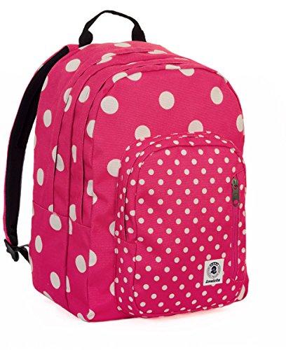 ZAINO INVICTA - FLIP - FANTASY - Rosa - Bianco - tasca porta pc e Tablet padded - americano 38 LT