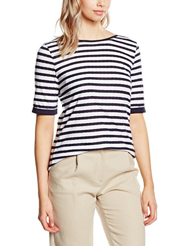 Betty Barclay Damen T-Shirt 3924/2997 Mehrfarbig (Dark Blue/White 8812)