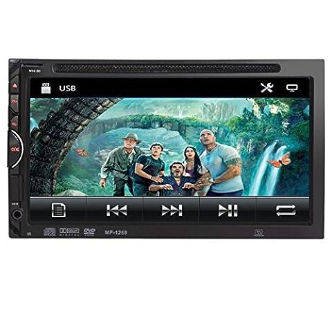Auto GPS Stereo Radio - Kingwo 7 HD 2DIN Auto Bluetooth Touchscreen CD DVD Spieler Stereo MP3 AUX FM Radio USB (Din-radio-install Kit)