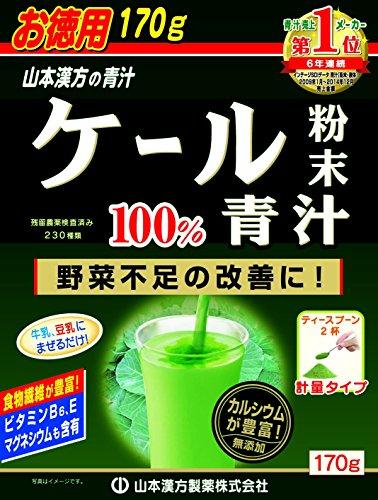 山本漢方 ケール粉末100%青汁 170g