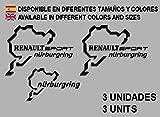 Ecoshirt UX-DDUV-JPU8 - Adesivi per Renault Sport Nürburgring F25 Aufkleber Decals Adesivi Rallye, Colore: Nero